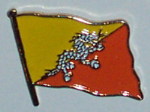 Bhutan Country Flag Enamel Pin Badge